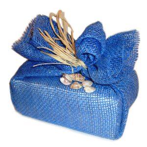 упаковать подарок в мешковину фото