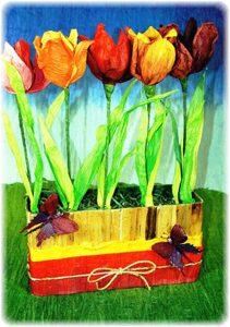 как сделать цветы из бумаги идеи из крепа  magazin-upak.ru