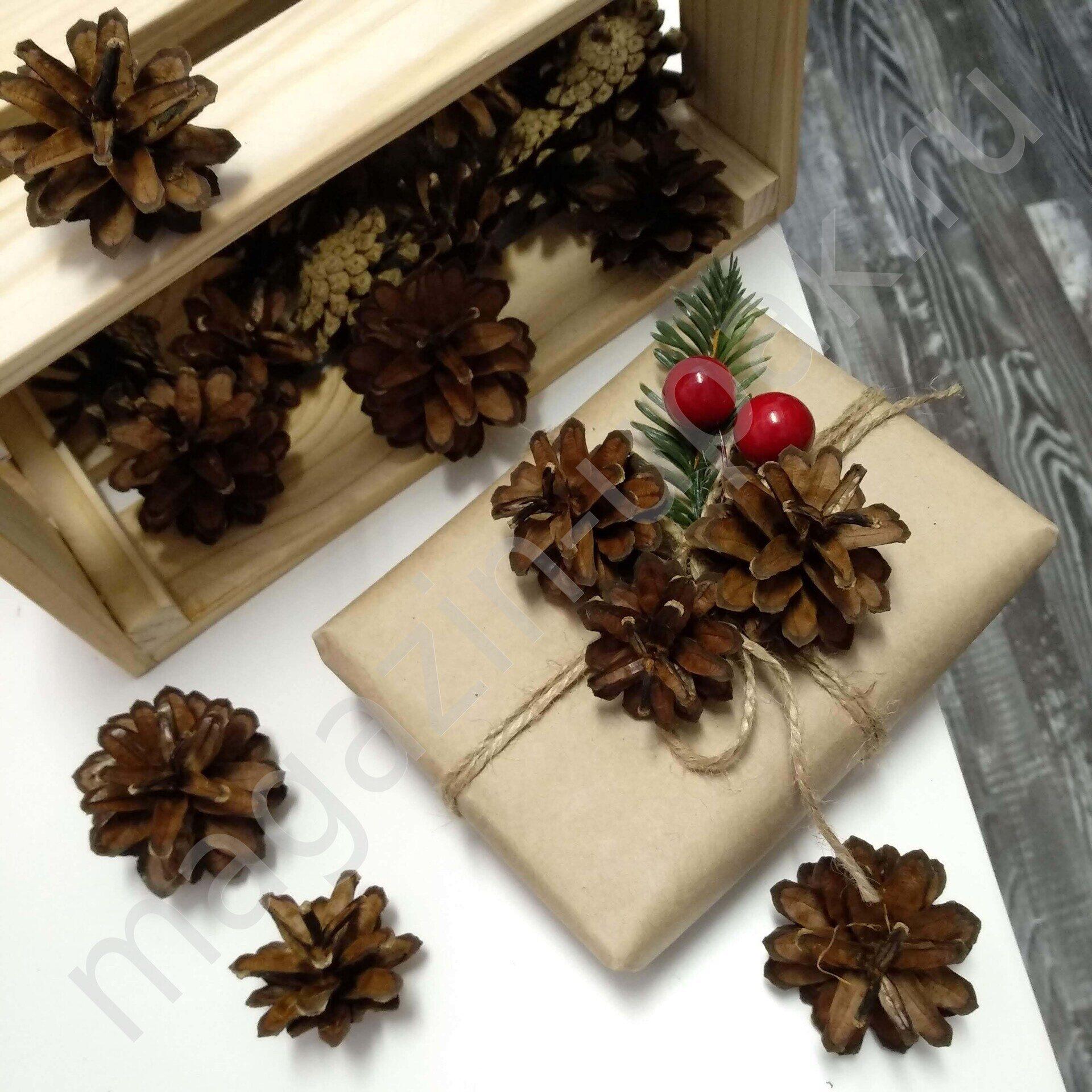 Шишки большие сосновые  для новогоднего декора