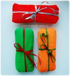 как упаковать подарок в креп-бумагу  magazin-upak.ru